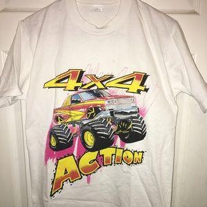 Fire monster truck 4x4 shirt.